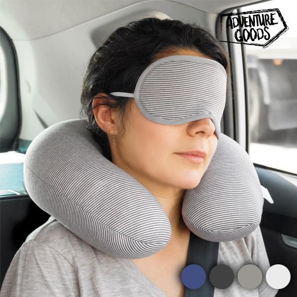 Almofada Cervical E Mascara De Viagem Adventure Goods